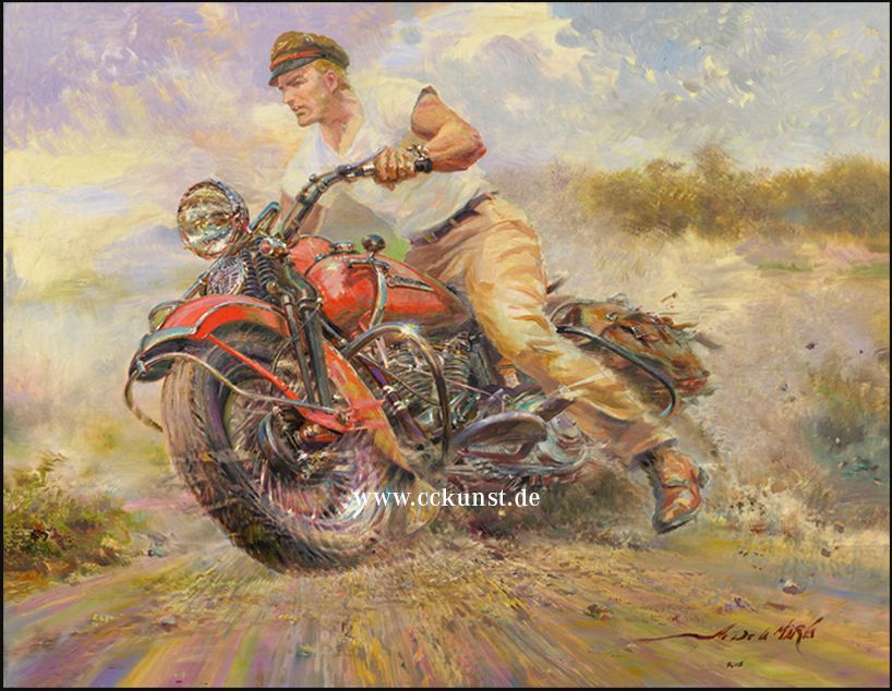 """THE EARLY RIDER""! HARLEY DAVIDSON - KNUCKLE HEAD 1947 FL"