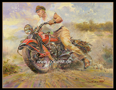 THE EARLY RIDER! HARLEY DAVIDSON - NUCKLE HEAD 1947 FL