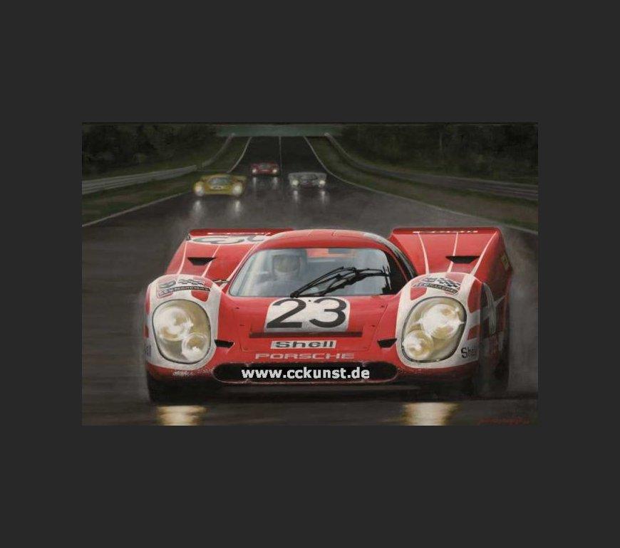 PORSCHE 917 K HANS HERRMANN LE MANS 1970