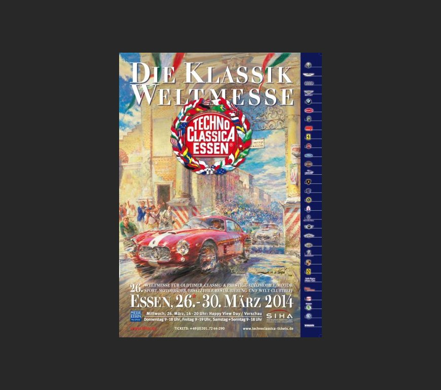 event poster TECHNO CLASSICA ESSEN 2014