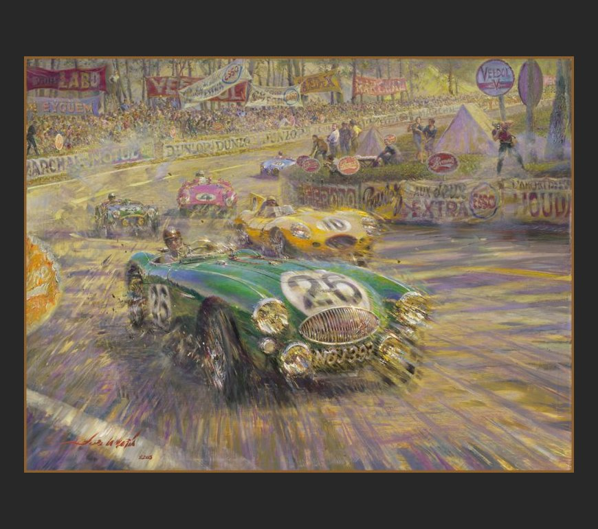 AUSTIN HEALEY - NOJ 393 - LE MANS 1955