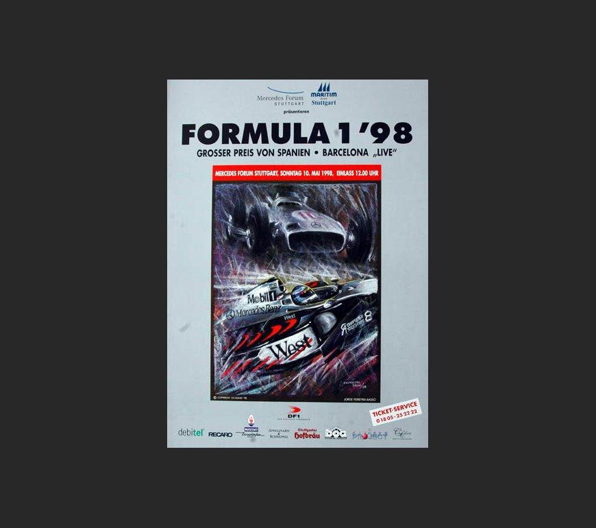 VA Plakat zum Großen Preis von Spanien 1998