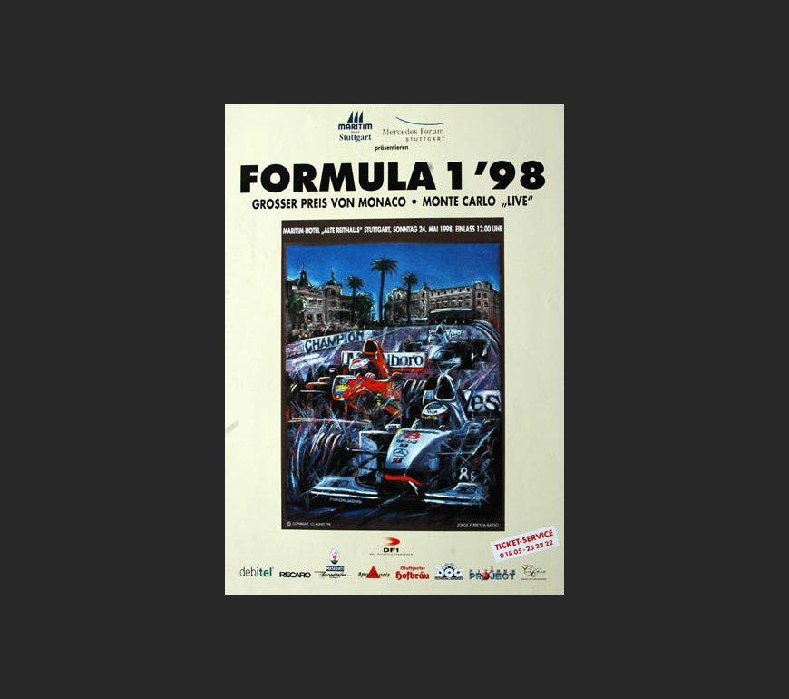 VA Plakat zum Großen Preis von Monaco 1998