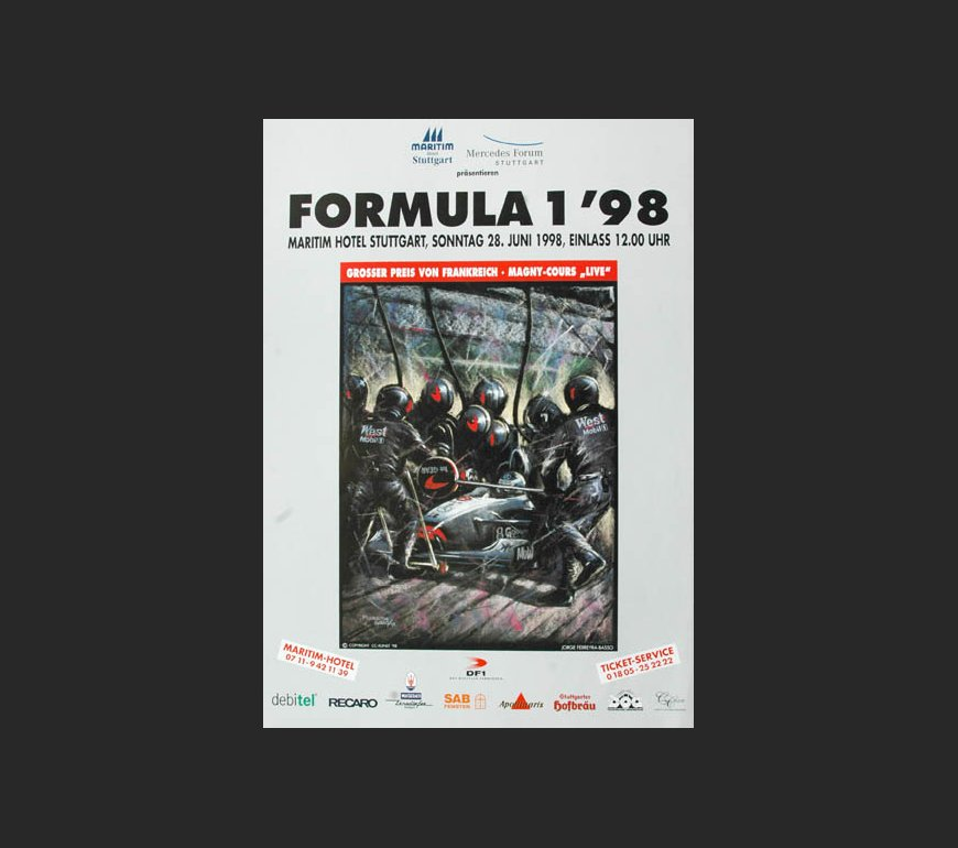 event poster to Grand Prix of France 1998
