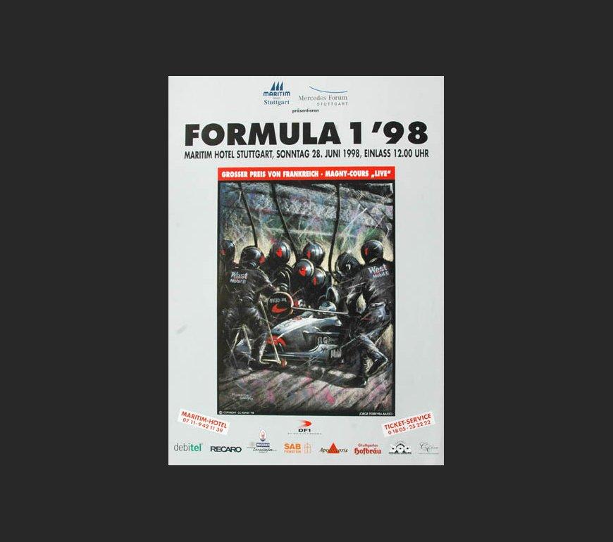 VA Plakat zum großen Preis von Frankreich 1998