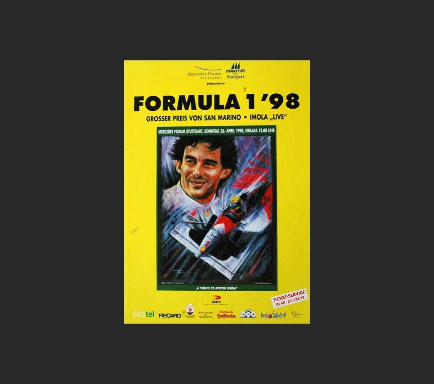 VA-Plakat zum Großen Preis von San Marino 1998