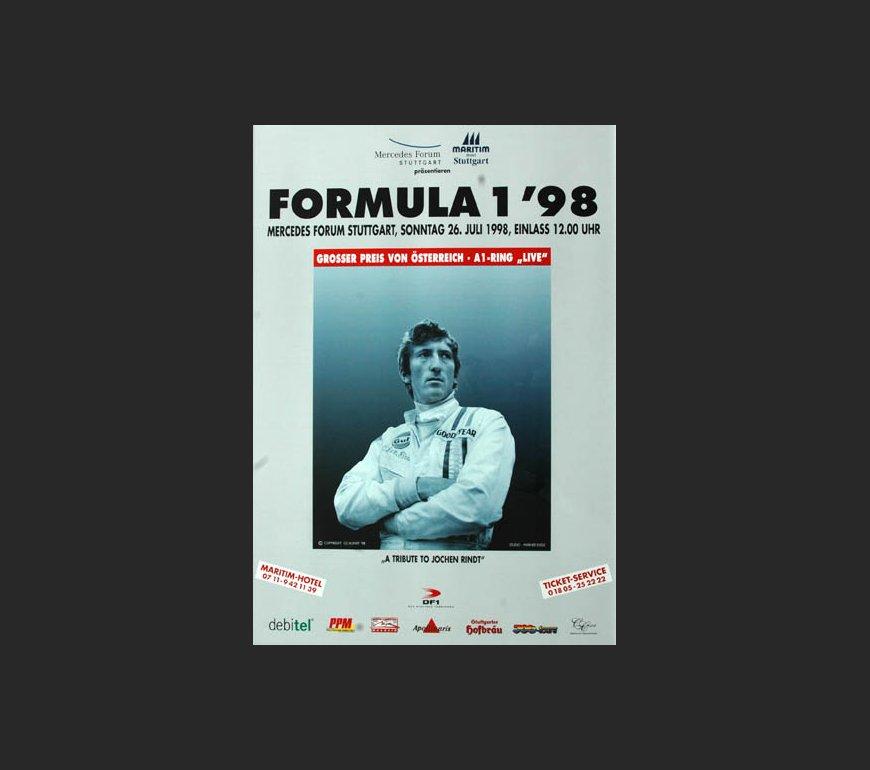 VA Plakat zum Großen Preis von Österreich 1998