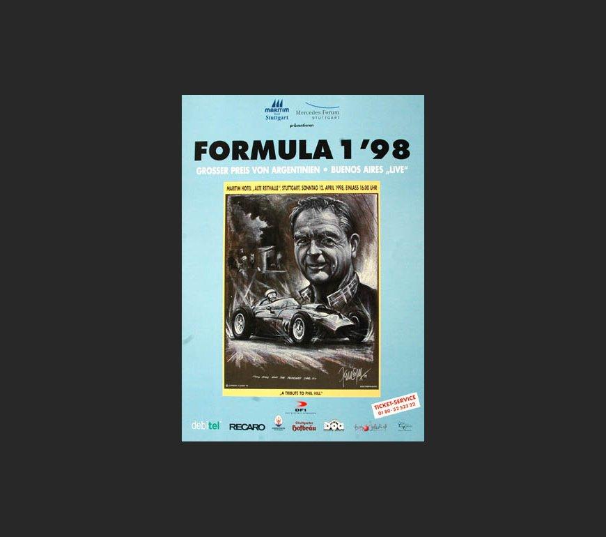 VA Plakat zum Großen Preis von Argentinien 1998