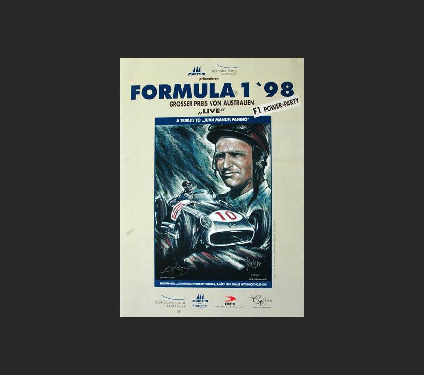 VA Plakat zum Großen Preis von Australien 1998