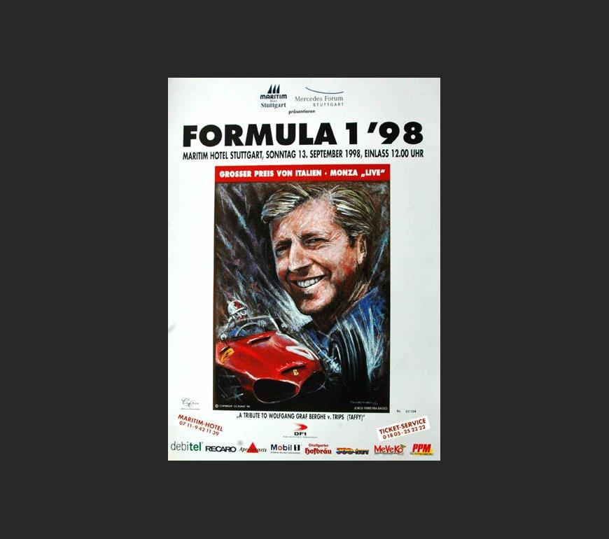VA Plakat zum Großen Preis von Italien 1998