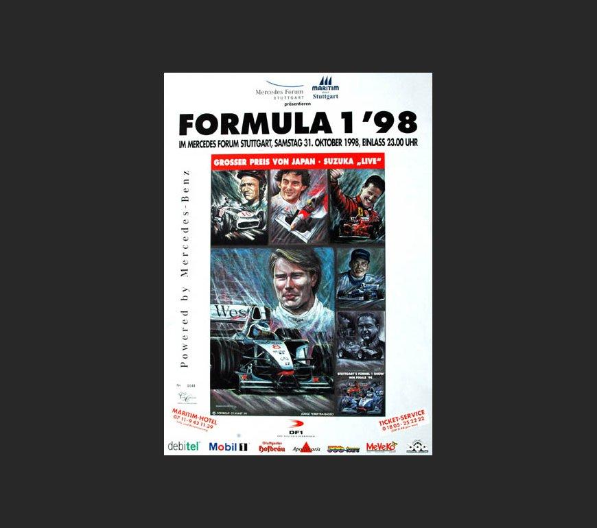 VA Plakat zum Großen Preis von Japan 1998