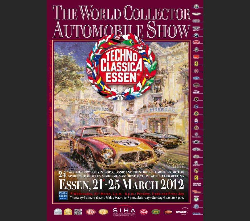 VA-Plakat TECHNO CLASSICA ESSEN 2012