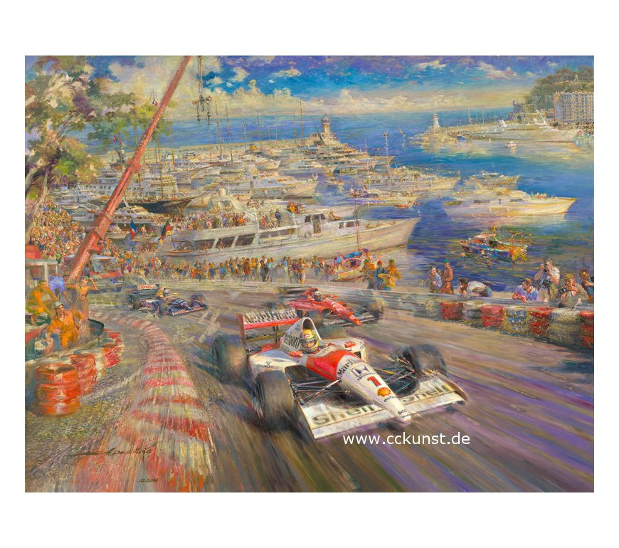 MONTE CARLO 1991 - WINNER AYRTON SENNA