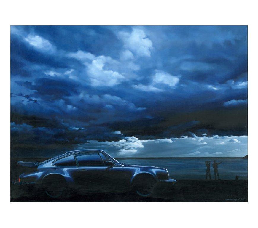 PORSCHE 911 - TURBO - blue hour