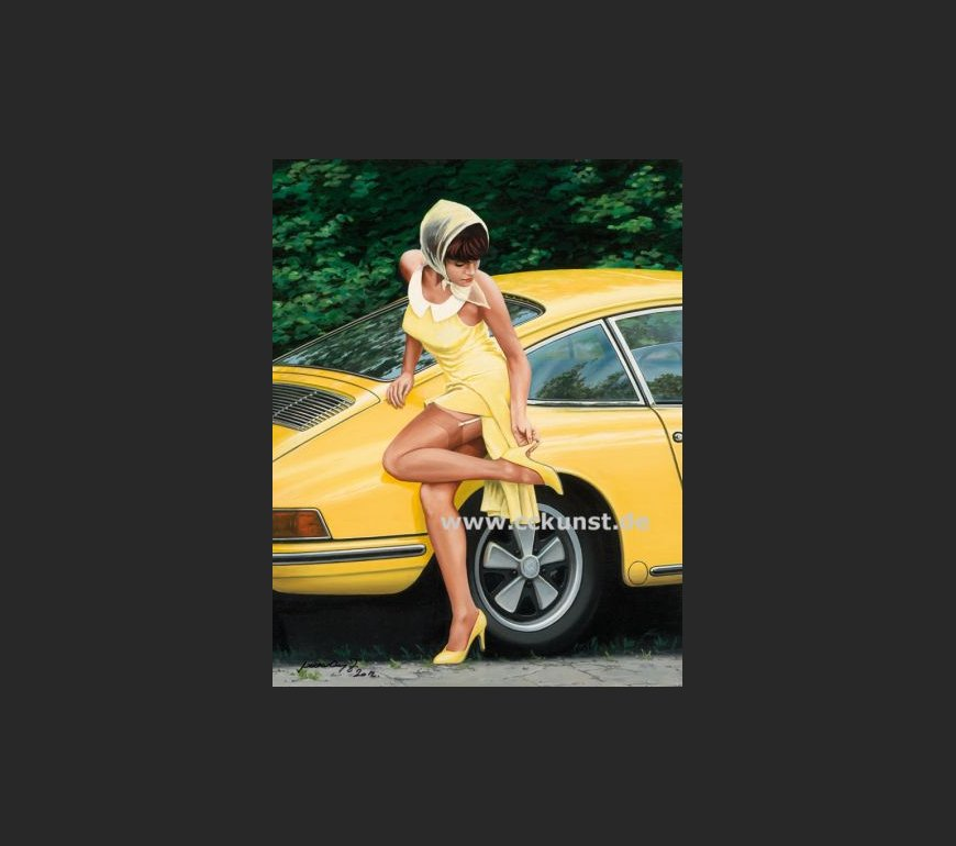 PORSCHE LADY YELLOW